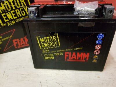 MOTOBATERIE FIAMM STORM FTX12-BS/YTX12-BS